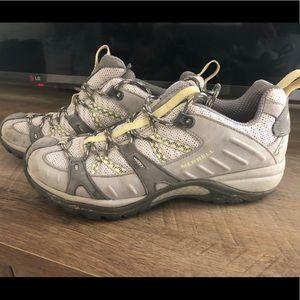 Women's Merrell yellow/gray Hiking Shoes